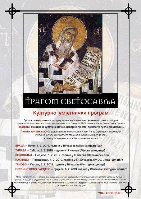 """Kulturno-umjetnički program  """"Tragom Svetosavlja"""""""
